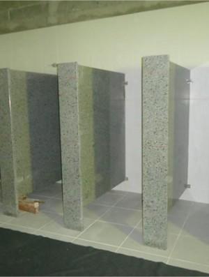 Construção dos novos banheiros (Foto: Divulgação/AG)