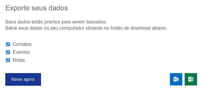 Baixando arquivo de backup com seus dados (Foto: Reprodução/Helito Bijora)