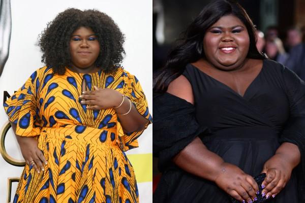 Gabourey Sidibe antes e depois da cirurgia (Foto: Getty Images)
