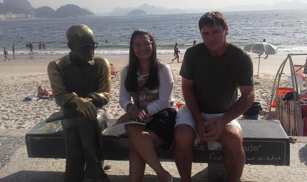 Lindalva conheceu pontos turísticos do Rio de Janeiro (Foto: Arquivo Pessoal)