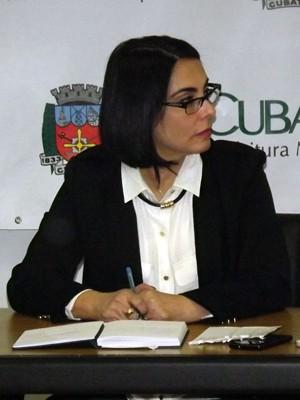 Prefeita de Cubatão, SP, Márcia Rosa (Foto: Ivair Vieira Jr/G1)