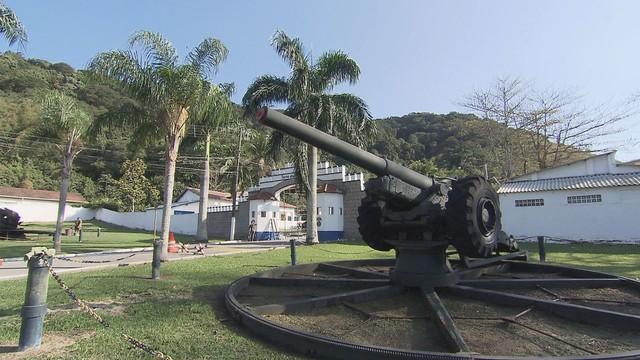 Rota do Sol conhece o Forte dos Andradas (Foto: Reprodução/TV Tribuna)