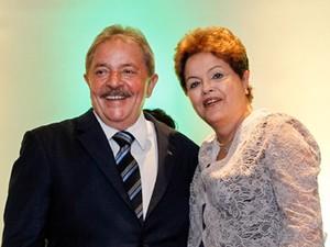 O ex-presidente Luiz Inácio Lula da Silva e a presidente Dilma Rousseff, em São Bernardo (Foto: Roberto Stuckert Filho/PR)