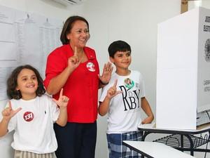 Fátima Bezerra - eleita senadora pelo Rio Grande do Norte (Foto: Rayane Mainara)