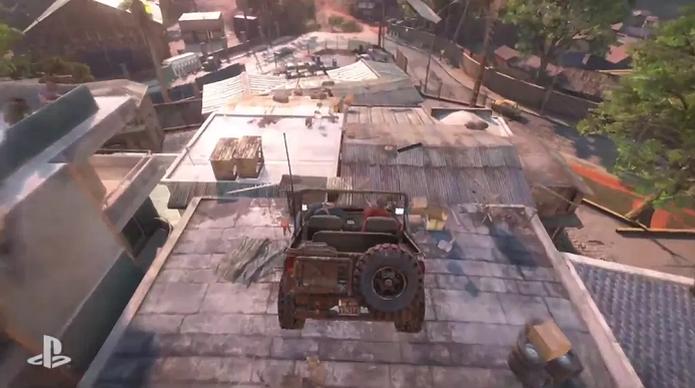Uncharted 4 teve gameplay com perseguição alucinante (Foto: Reprodução/TechTudo) (Foto: Uncharted 4 teve gameplay com perseguição alucinante (Foto: Reprodução/TechTudo))
