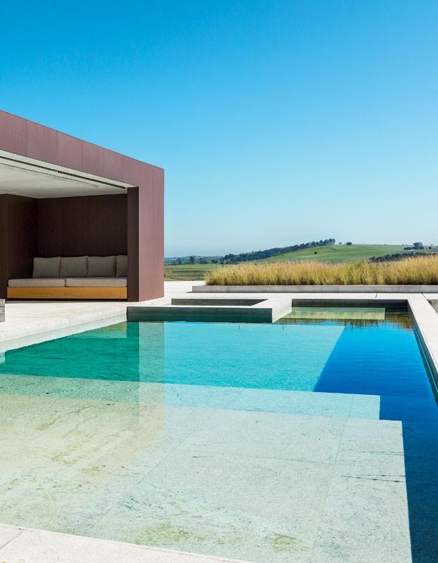 Minimalismo e luz para a casa de campo casa vogue casas for Casa minimalista con alberca