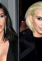 Kim Kardashian aparece platinada em desfile na semana de moda de Paris