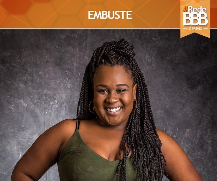 Com 34% dos votos Roberta venceu a categoria Embuste (Foto: Gshow)
