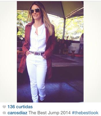 Carolina Diaz venceu o concurso do look mais bonito (Foto: Reprofução/Instagram)