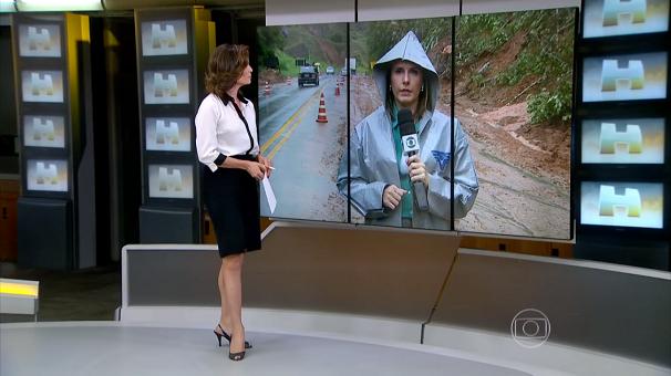 Solange Freitas ao vivo para o Jornal Hoje (Foto: Reprodução/TV Tribuna)