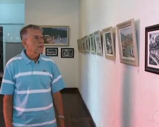 Exposição valoriza paisagens do litoral de Angra dos Reis (Foto: Reprodução RJTV 2ª Edição)