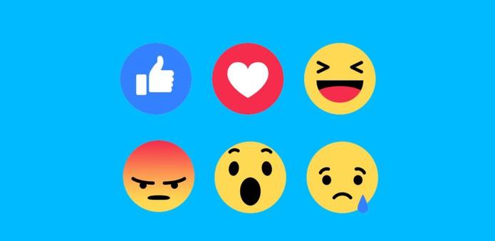 Facebook Reactions; saiba o que significam cada um dos novos botões de Like (Foto: Divulgação/Facebook)