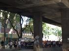 Protesto de funcionários e alunos do CAP-Uerj fecha Av. Paulo de Frontin