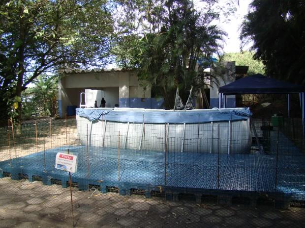 Local possui estrutura com piscina, área de internação, além de equipamentos necessários para atendimento médico (Foto: Divulgação/ Iema)