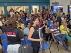 Servidores municipais da capital de MS fazem panelaço na prefeitura