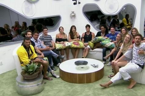 Os 14 participantes do 'Big Brother Brasil 13' (Foto: Reprodução)