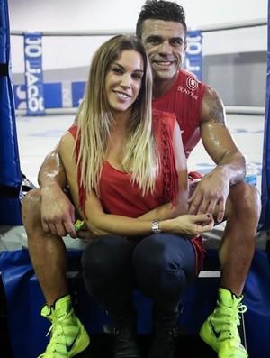Vitor Belfort e Joana Prado UFC MMA (Foto: Reprodução / Twitter)