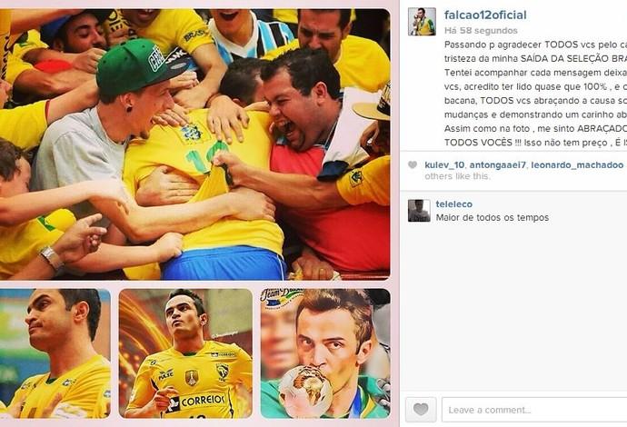 falcão instagram mensagem agradecimento (Foto: Reprodução/Instagram)