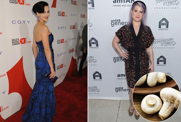 Katy Perry (à esquerda) e Jelly Osbourne (à direita) aderiram à dieta de cogumelos  (Foto: Getty Images)