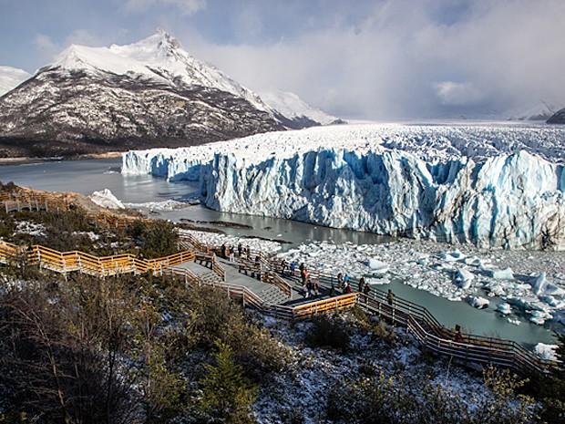Glacial Perito Moreno, a 90 km de El Calafate, na Argentina (Foto: Leonardo Spencer/Viajo Logo Existo/Divulgação)