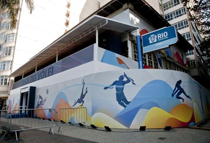 O muro da escola Cícero Penna com decoração olímpica (Foto: Divulgação)