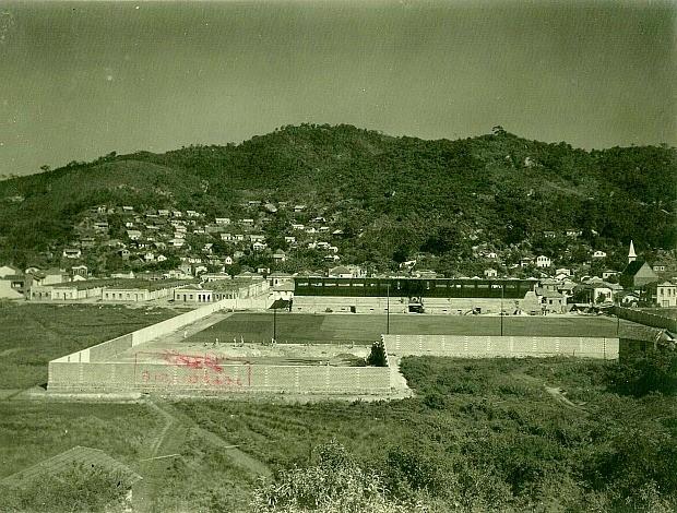 Estádio Governador Bley na década de 30 (Foto: Arquivo Geral Do Município de Vitória)
