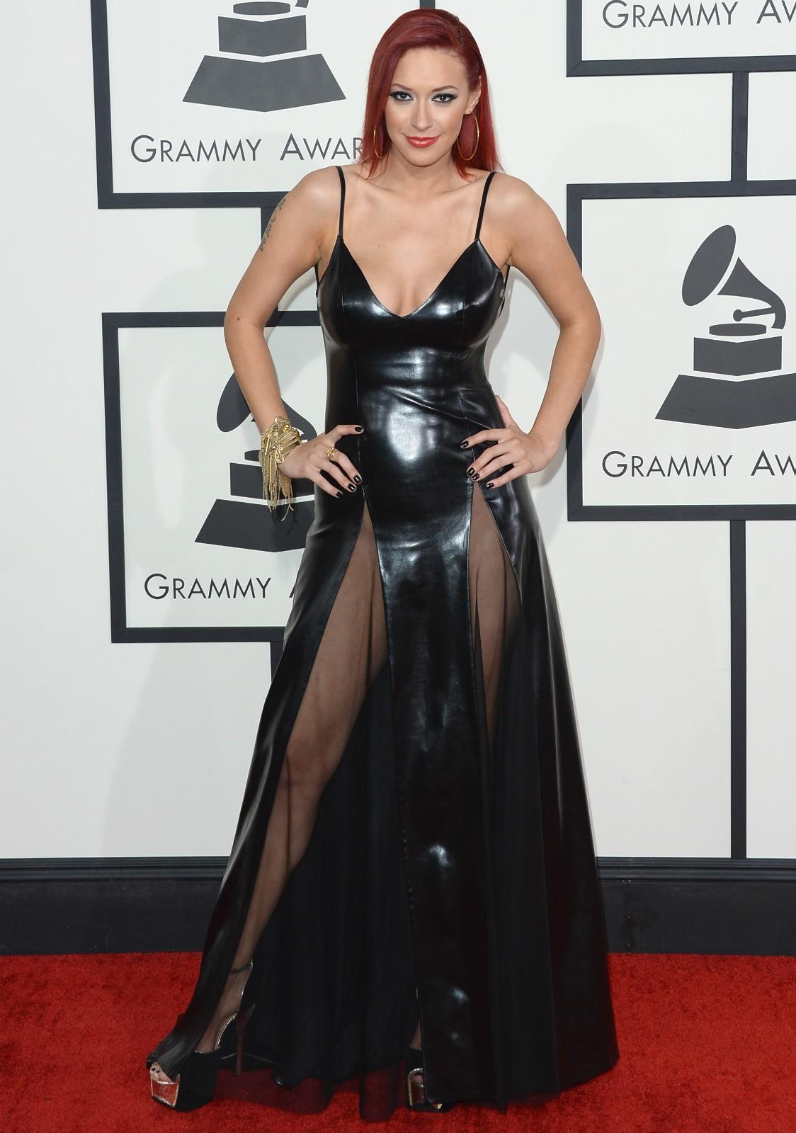 A cantora Kaya Jones no Grammy 2014. (Foto: Getty Images)