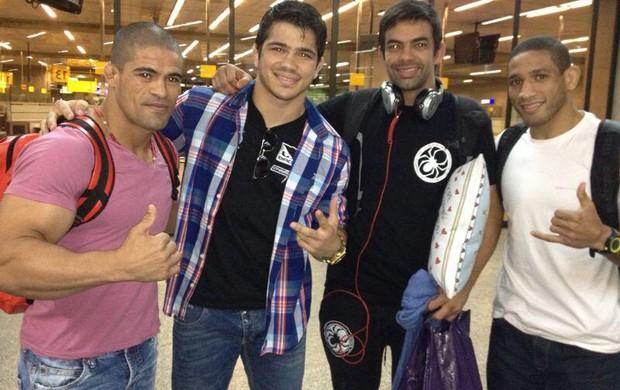 UFC Rousimar Toquinho, Erick Silva, Yan Cabral e Hacran Dias MMA (Foto: Reprodução / Twitter)