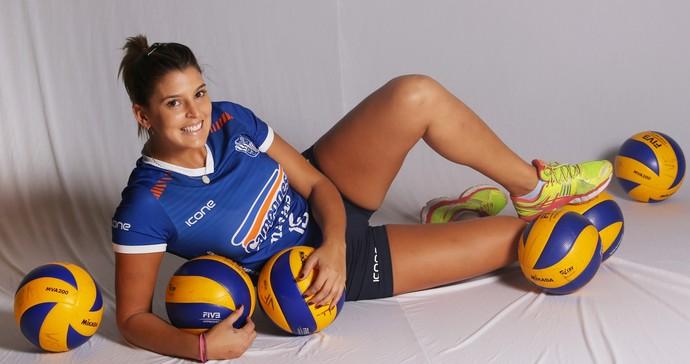 Maria Paraíba, ponteira, Minas, musa (Foto: Orlando Bento / Minas Tênis Clube)