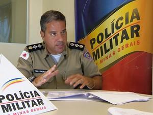 Polícia Militar Juiz de Fora major Paulo Alex Moreira (Foto: Reprodução/TV Integração)