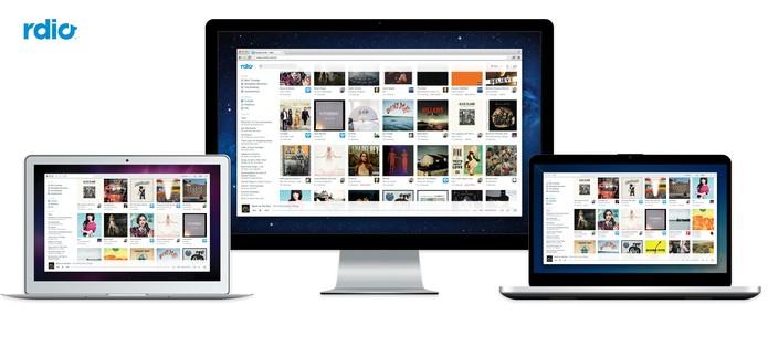 Rdio aposta na interface simples para atrair usuário (Foto: Divulgação/Rdio)