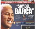 Escolha de Neymar pelo Barcelona ganha destaque nos jornais catalães