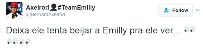 Tweet Luiz Felipe e Emilly (Foto: Reprodução da Internet)
