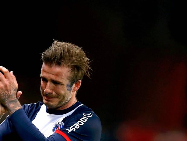Beckham chora PSG Brest (Foto: Reuters)