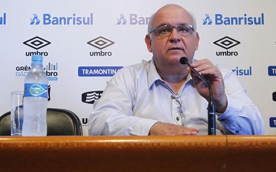 Romildo Bolzan Júnior, presidente do Grêmio (Foto: Lucas Uebel / Grêmio FBPA)