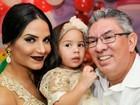 Shayene Cesário comemora aniversário da filha com o noivo