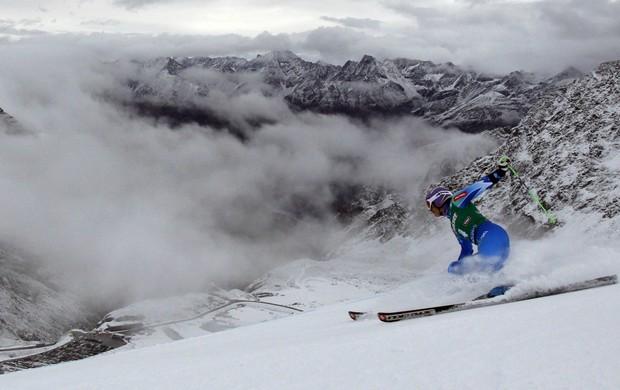 esqui alpino Tina Maze Copa do Mundo de Söelden primeira volta (Foto: Reuters)