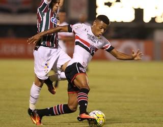 David Neres, do São Paulo, estreou contra o Fluminense (Foto: Rubens Chiri / saopaulofc.net)