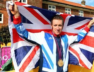 Bradley Wiggins no ciclismo em Londres (Foto: Agência Getty Images)