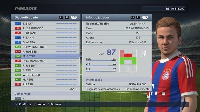 Götze é a capa do jogo e um dos melhores meias (Foto: Reprodução/Thiago Barros)