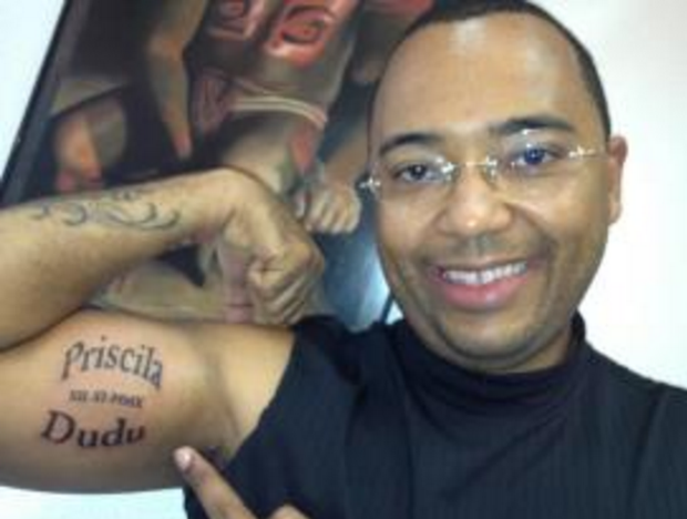 Tatuagem de Dudu Nobre (Foto: Reprodução/Facebook)