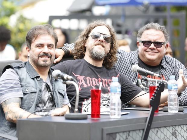 A banda Raimundos gravou participação ao lado de Leo Jaime (Foto: Vídeo Show / Gshow)