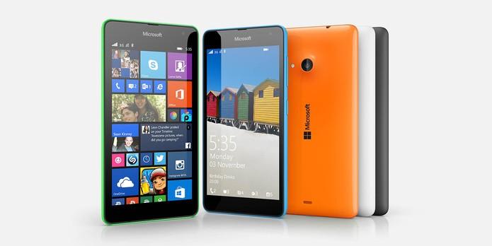 Lumia 535 é mais fino, leve e possui design colorido (Foto: Divulgação/Microsoft)