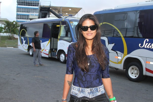 Antonia Morais no festival Loollapalooza em SP (Foto: Leo Franco e Thiago Duran/AgNews)