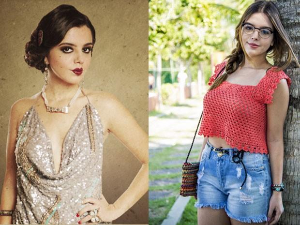 Giovanna Lancellotti em Gabriela e agora como Bélgica em Alto Astral (Foto: Gabriela/Raphael Dias/Gshow)