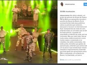 Ator Lázaro Ramos publicou vídeo nas redes sociais e defendeu ação (Foto: Reprodução/ Instagram)
