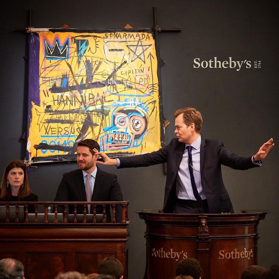A obra Hannibal no leilão da Sotheby's (Foto: Reprodução/Instagram)