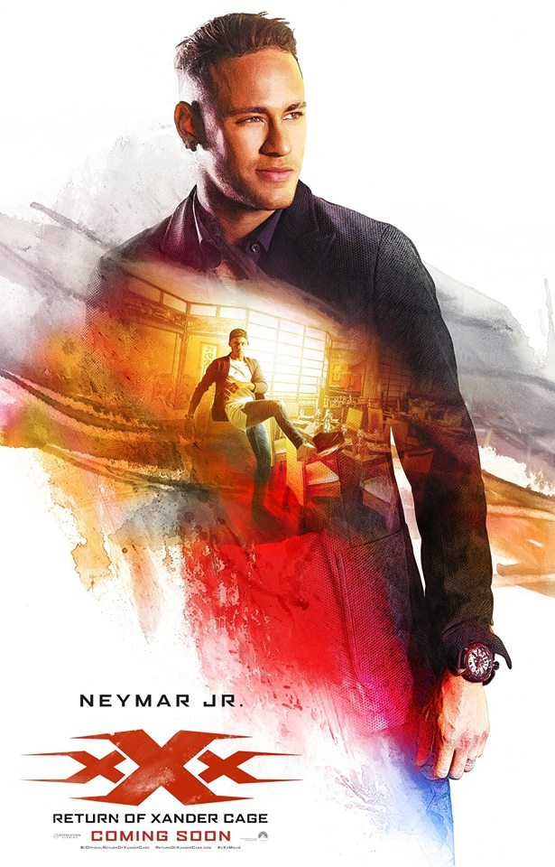 Neymar no cartaz do filme Triplo X - Reativado