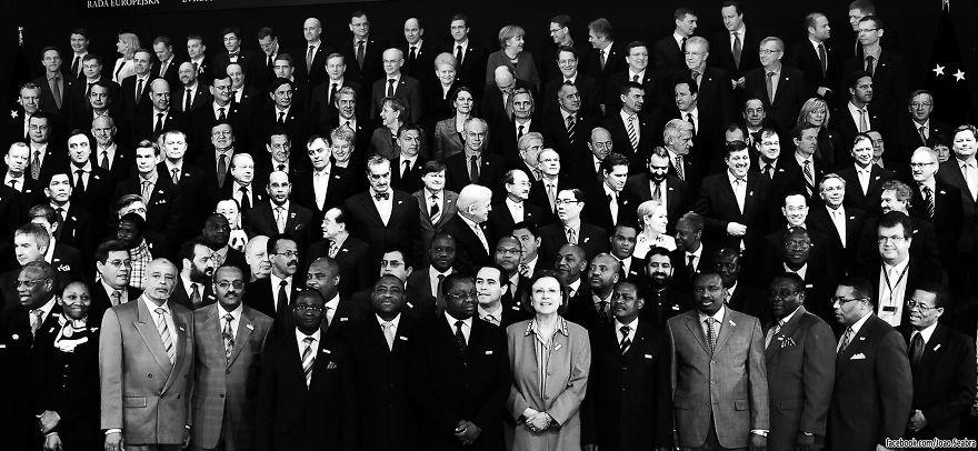 Encontre o panda entre os executivos (FOTO: REPRODUÇÃO/JOÃO SEABRA)
