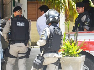 Paredes ficará aguardando o julgamento preso no 5º Batalhão da Polícia Militar (Foto: Walter Paparazzo/G1)